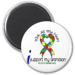 Autism I Support My Grandson Fridge Magnet