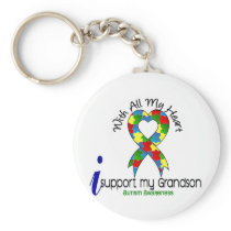 Autism I Support My Grandson Keychain