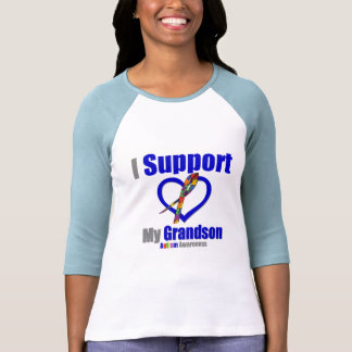 Autism I Support My Grandson T Shirt