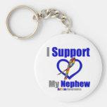 Autism I Support My Nephew Key Chain