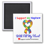 Autism: I Support My Nephew With All My Heart Magnet