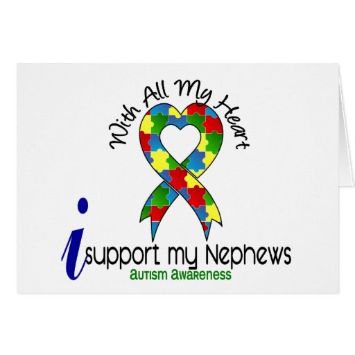Autism I Support My Nephews Card