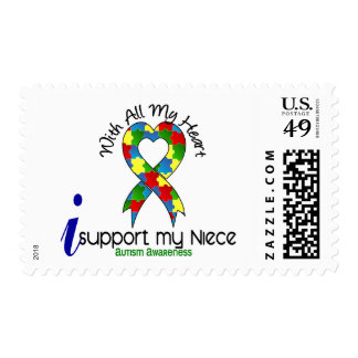 Autism I Support My Niece Stamp