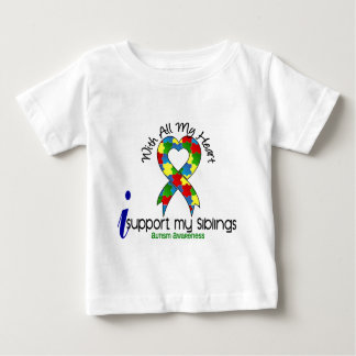 Autism I Support My Siblings Baby T-Shirt