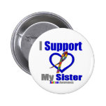 Autism I Support My Sister 2 Inch Round Button