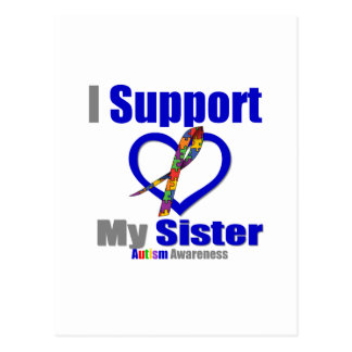 Autism I Support My Sister Postcard