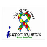 Autism I Support My Sisters Postcard