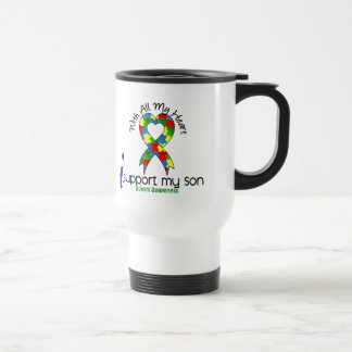 Autism I Support My Son 15 Oz Stainless Steel Travel Mug