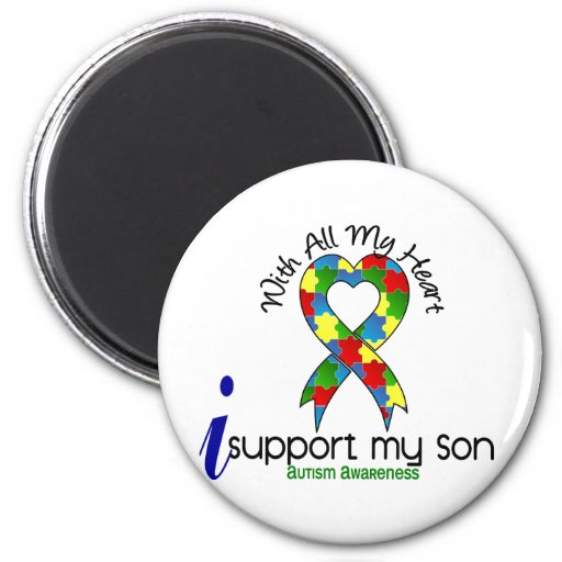 Autism I Support My Son Magnet