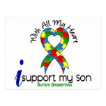 Autism I Support My Son Postcard