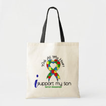 Autism I Support My Son Tote Bag