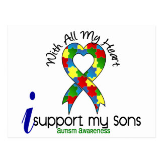 Autism I Support My Sons Postcard