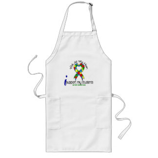 Autism I Support My Students Long Apron