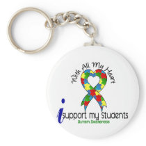 Autism I Support My Students Keychain