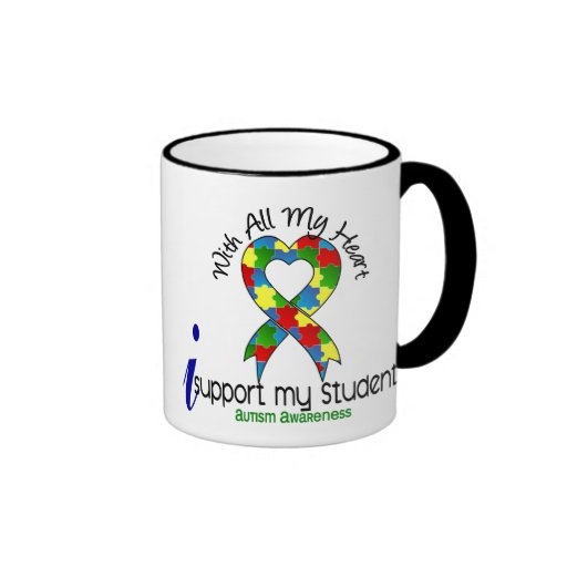Autism I Support My Students Coffee Mugs