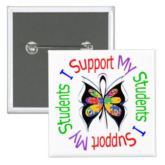 Autism I Support My Students Pinback Button