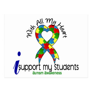 Autism I Support My Students Postcard