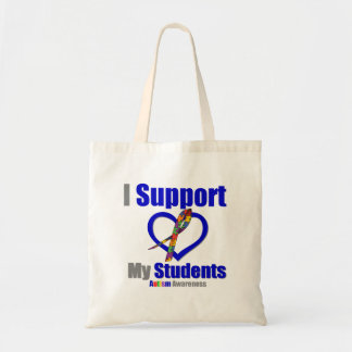 Autism I Support My Students Tote Bag