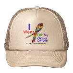 Autism I Wear Puzzle Ribbon For My Granddaughter Hats