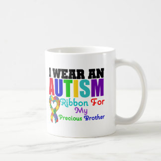 Autism I Wear Ribbon For My Precious Brother Mugs