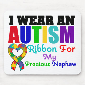 Autism I Wear Ribbon For My Precious Nephew Mouse Pad