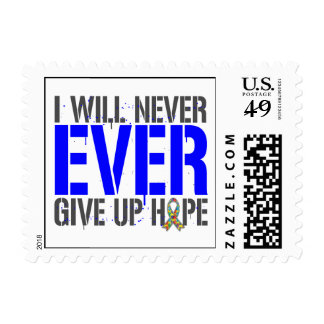 Autism I Will Never Ever Give Up Hope Stamps