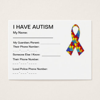 Autism ID cards