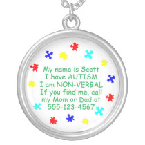 Autism Identification Necklace