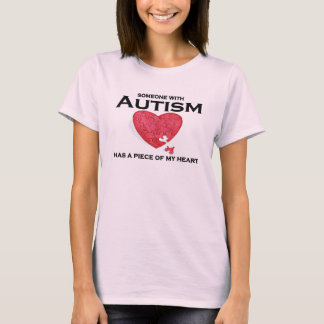 Autism in my heart lady's t-shirt