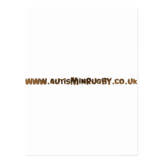 Autism in rugby products postcard