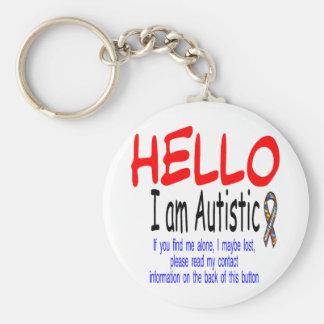 autism info button basic round button keychain