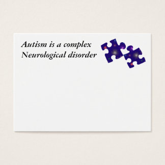 Autism Information Card- Customizable Business Card
