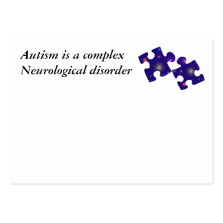 Autism Information Card- Customizable Large Business Cards (Pack Of 100)