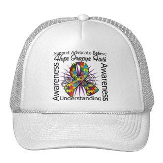 Autism Inspirations Spiral Ribbon Hats