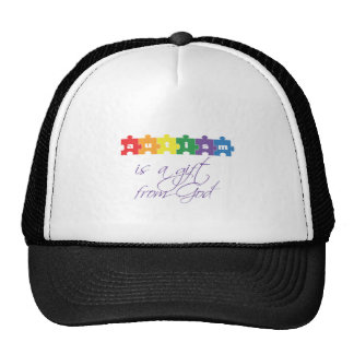 Autism is a gift from god trucker hat