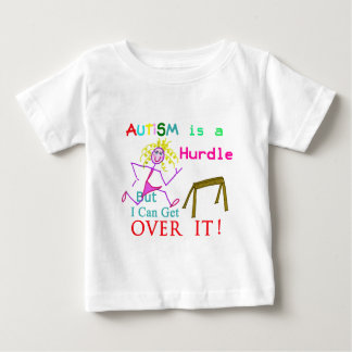 Autism is a Hurdle-Girl Baby T-Shirt