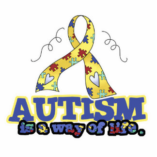 Autism is a Way of Life Standing Photo Sculpture