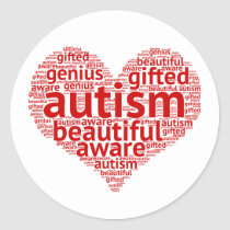 Autism is Beautiful Classic Round Sticker