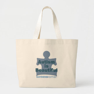 Autism is beautiful large tote bag