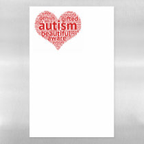 Autism Is Beautiful Magnetic Dry-Erase Magnetic Dry Erase Sheet