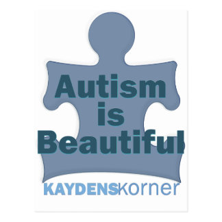 Autism is beautiful post cards