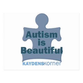 Autism is beautiful postcard