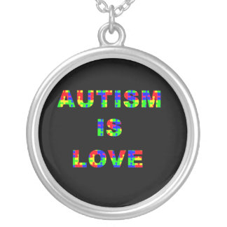 Autism is Love Silver Plated Necklace