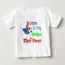 Autism is my unique super power baby T-Shirt