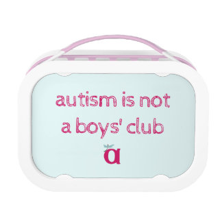 Autism is not a boys' club lunchbox