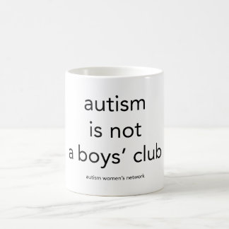 Autism is not a boys club: mug