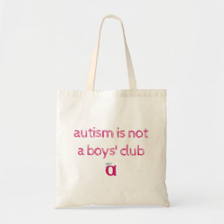 autism is not a boys' club sketchy bag