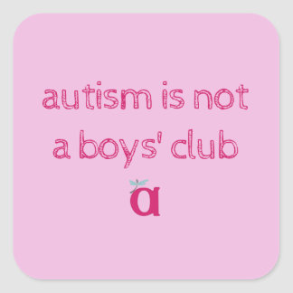 autism is not a boys' club sketchy stickers