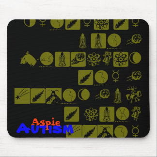 Autism is not a problem, its a gift. mouse pad