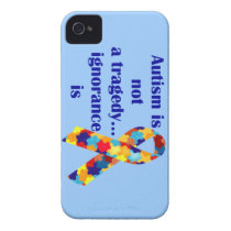 Autism is not a tragedy, ignorance is iPhone 4 Case-Mate case